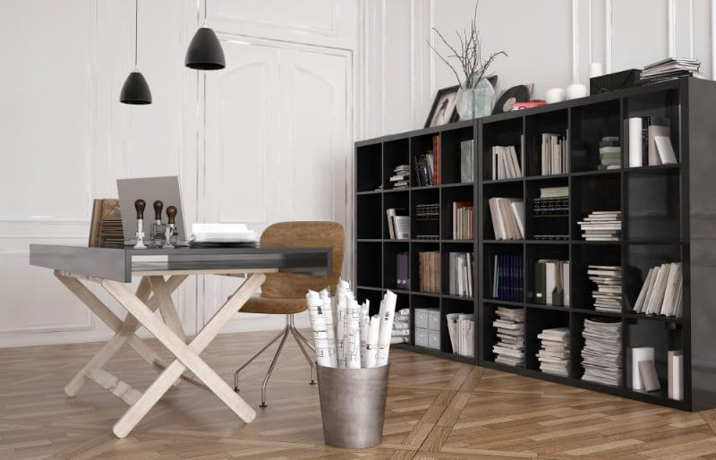 A neat office workspace